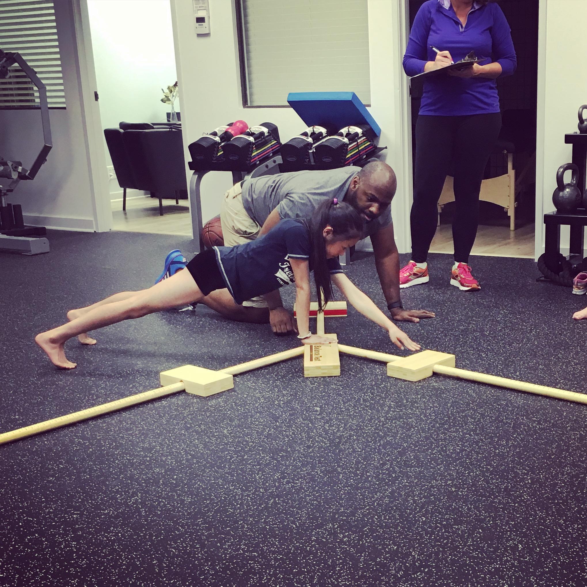 Upper Body Y-Balance Testing