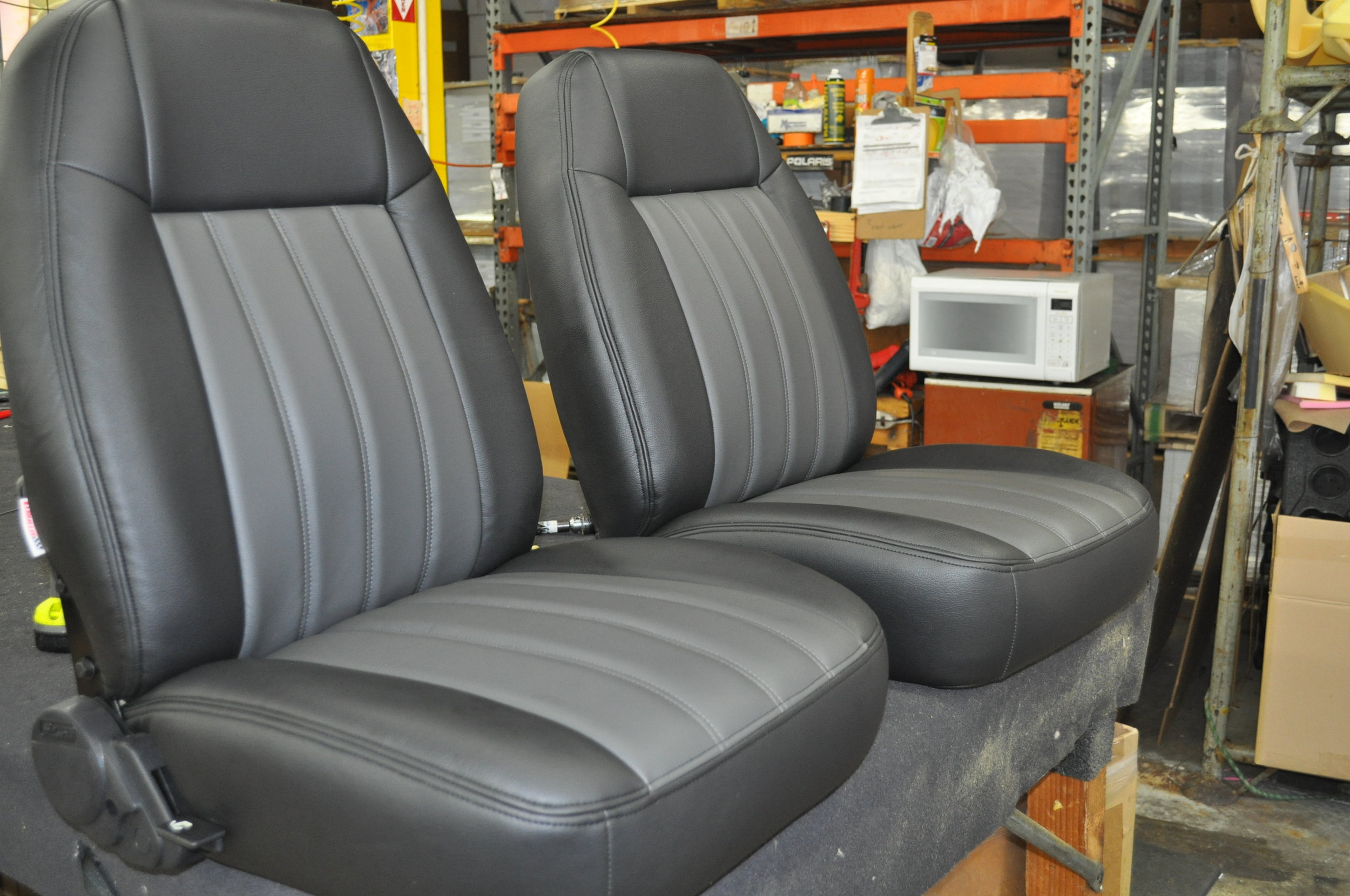We got a surprise when we took her rear seat apart. The original foam had turned to dust and the frame was so rusted, we were scared to touch it. Check it out..