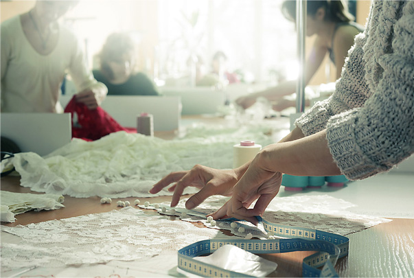Every Olvi's dress is totally made by hand