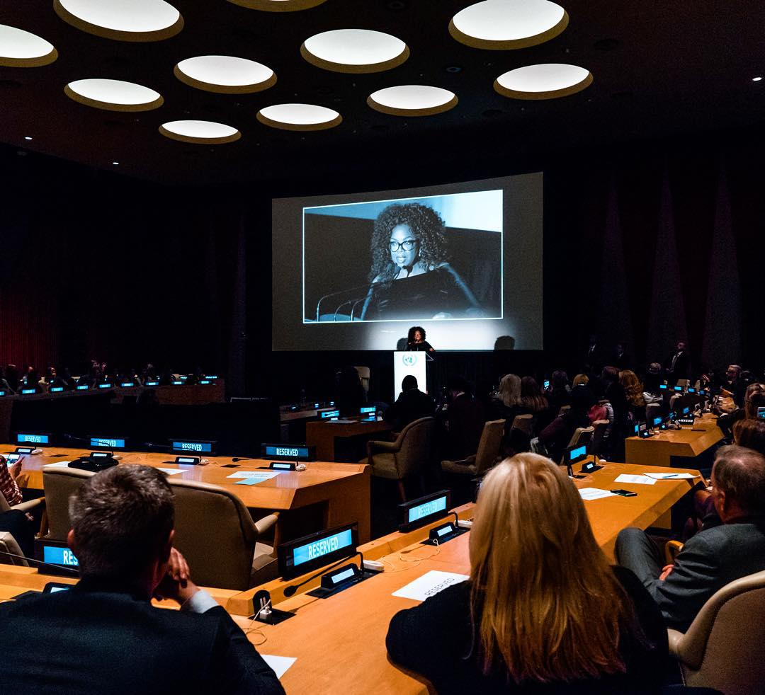 "OPRAH WINFRE ""BELIEF"" at the UNITED NATIONS"
