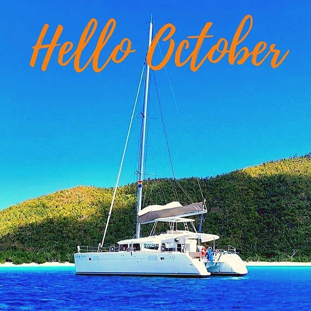 I'll take this Fall weather. ☀️ #britishvirginislands #yacht #fall #october #sailing #sailingyacht #yachtlife #islands #beaches #bvi #bvisailing #family #friends #luxuryyacht #luxury #coolchangelife