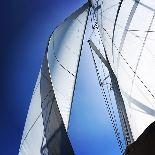 """A sailor is an artist whose medium is the wind."" - Webb Chiles #sailing #sailinglife #yacht #lagoon450 #wind #sails #bareboatcharter #bvi #bvisailing #britishvirginislands #islands #beaches #coolchangelife ⚓️"