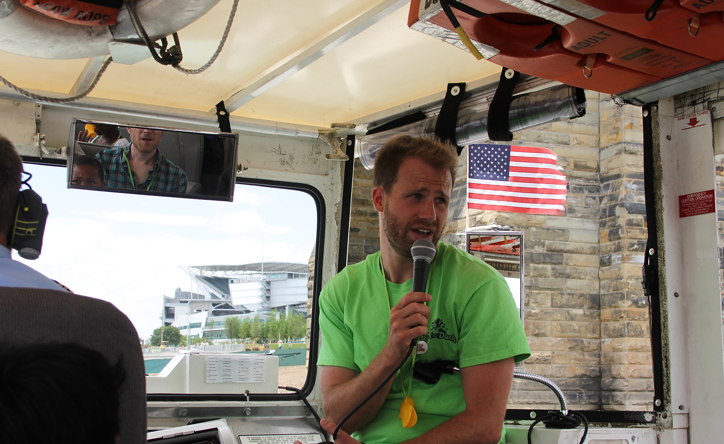 Our amazing host and duck boat guide, Zak Slemmer
