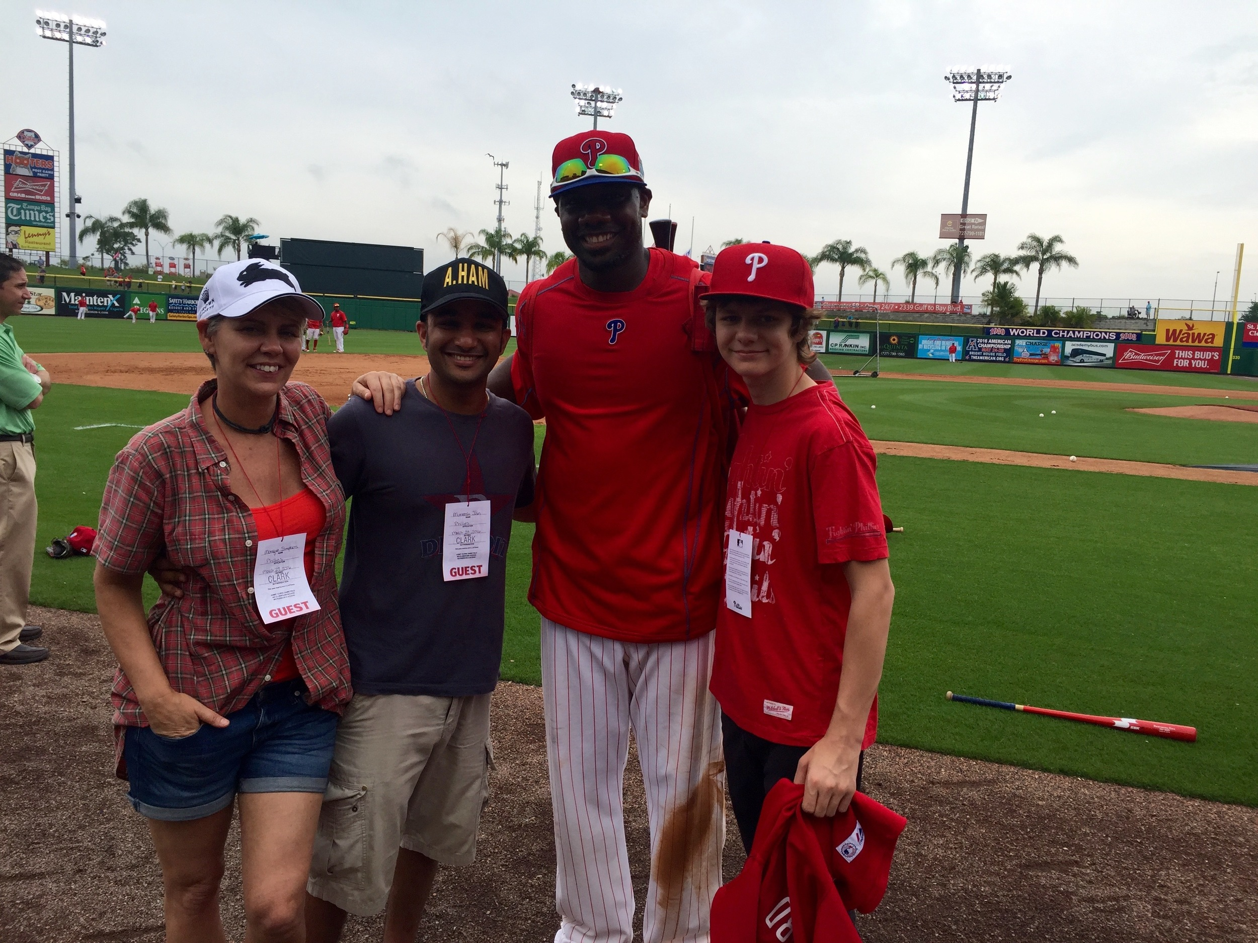 Ty, Muneesh and Monique with Ryan Howard