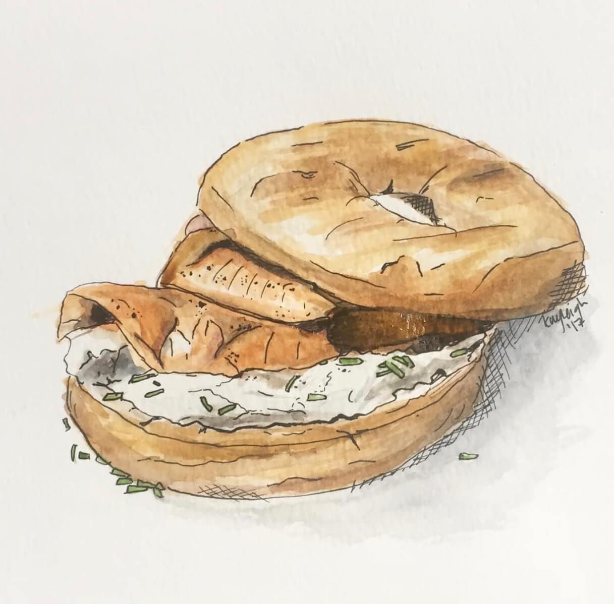 kayleigh mccallum food illustration bagel.jpeg