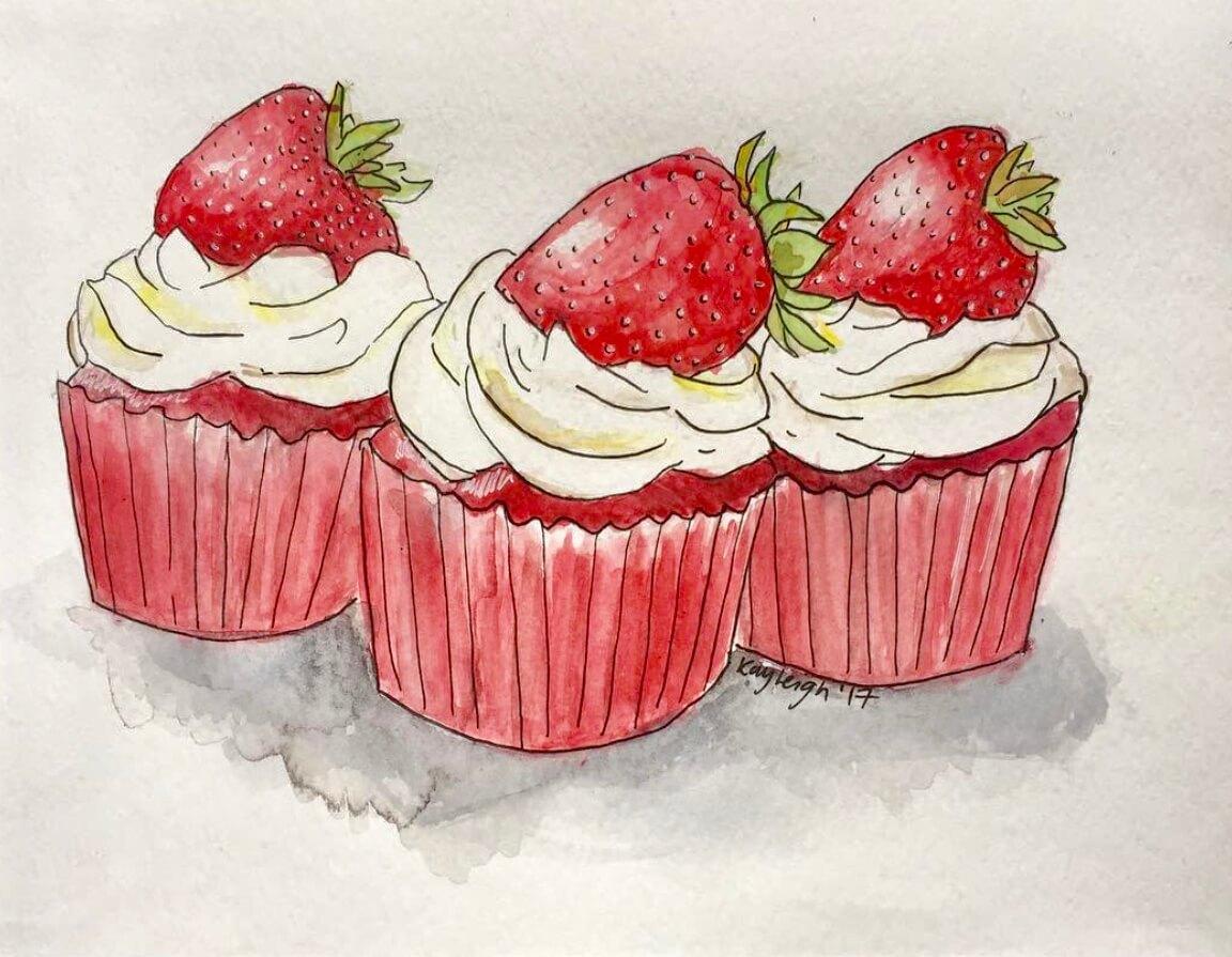 kayleigh mccallum food illustration cupcakes.jpeg
