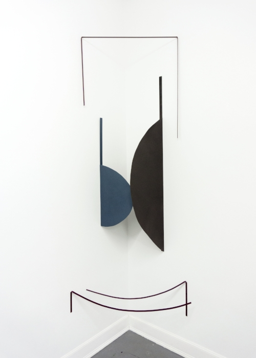 Alter, 100in x 48in, metal, paint, 2017