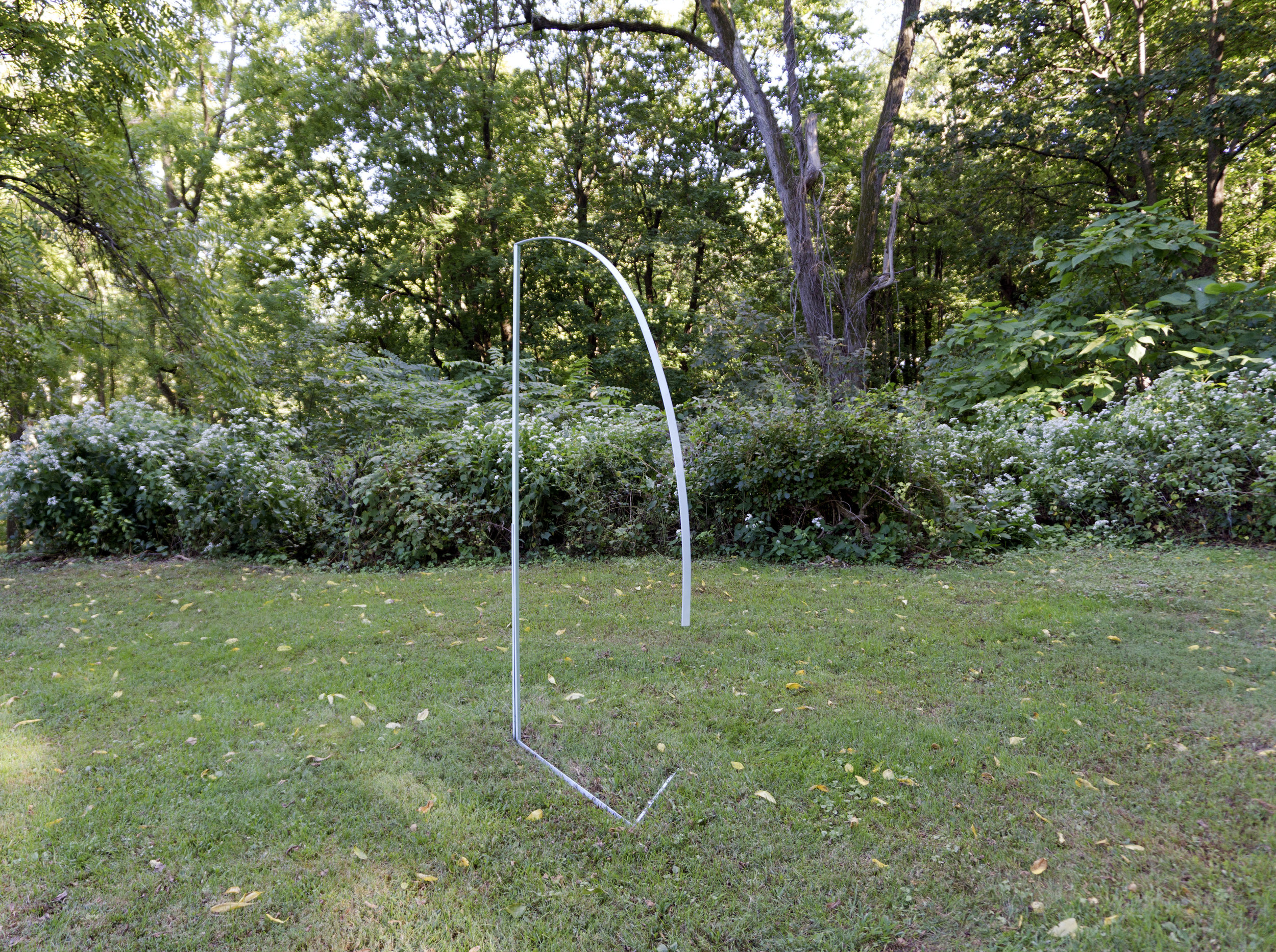 Blue Bang , 96in x 50in, metal , paint, 2017 at Glenlily Grounds Out door Sculpture Exhibitions, Newburgh, NY.