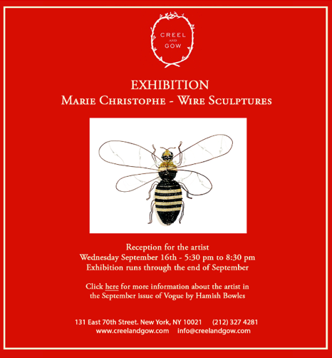 Marie Christophe NY exhibition - September 2015