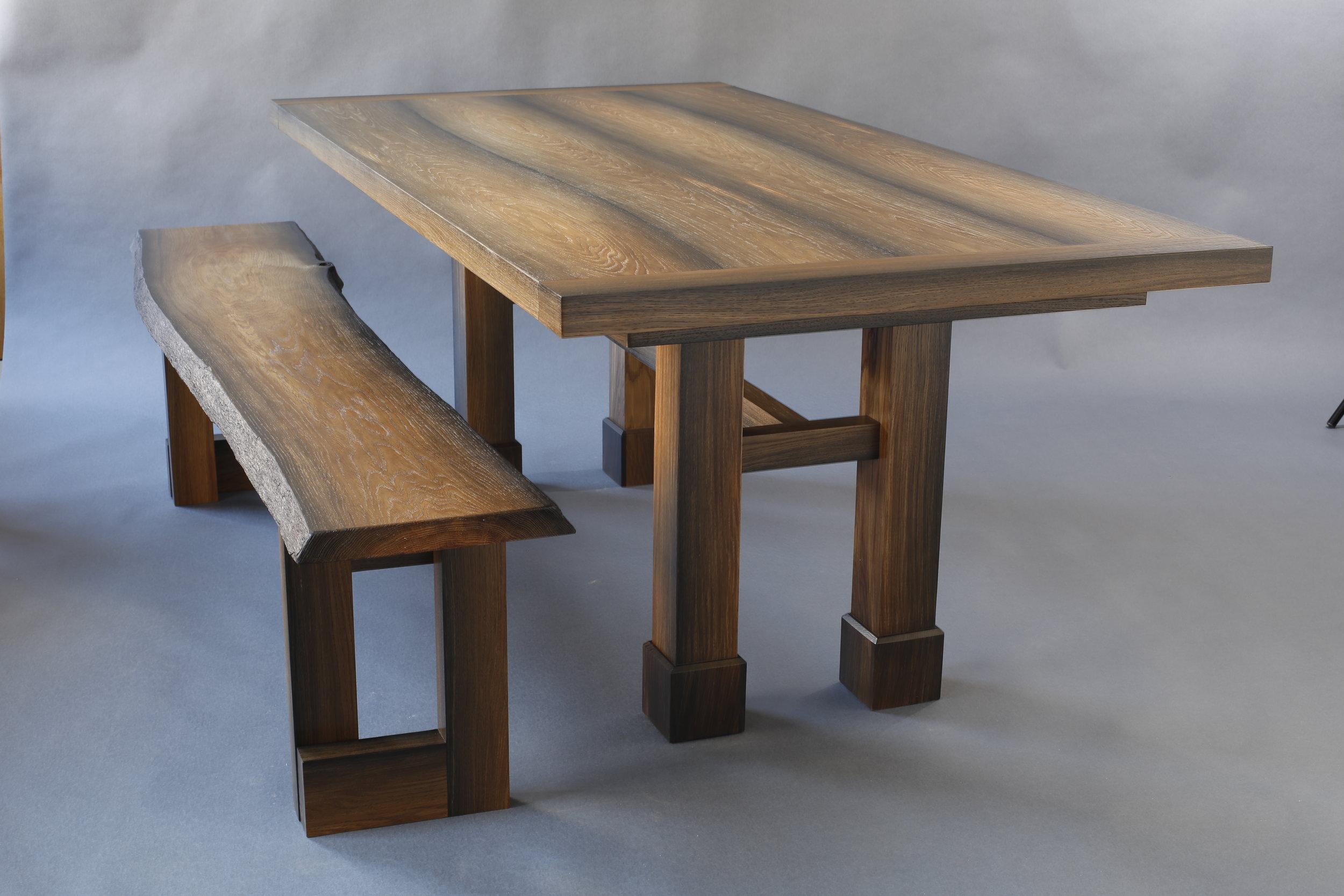 Bog Oak Farm Table - Thomas Newman