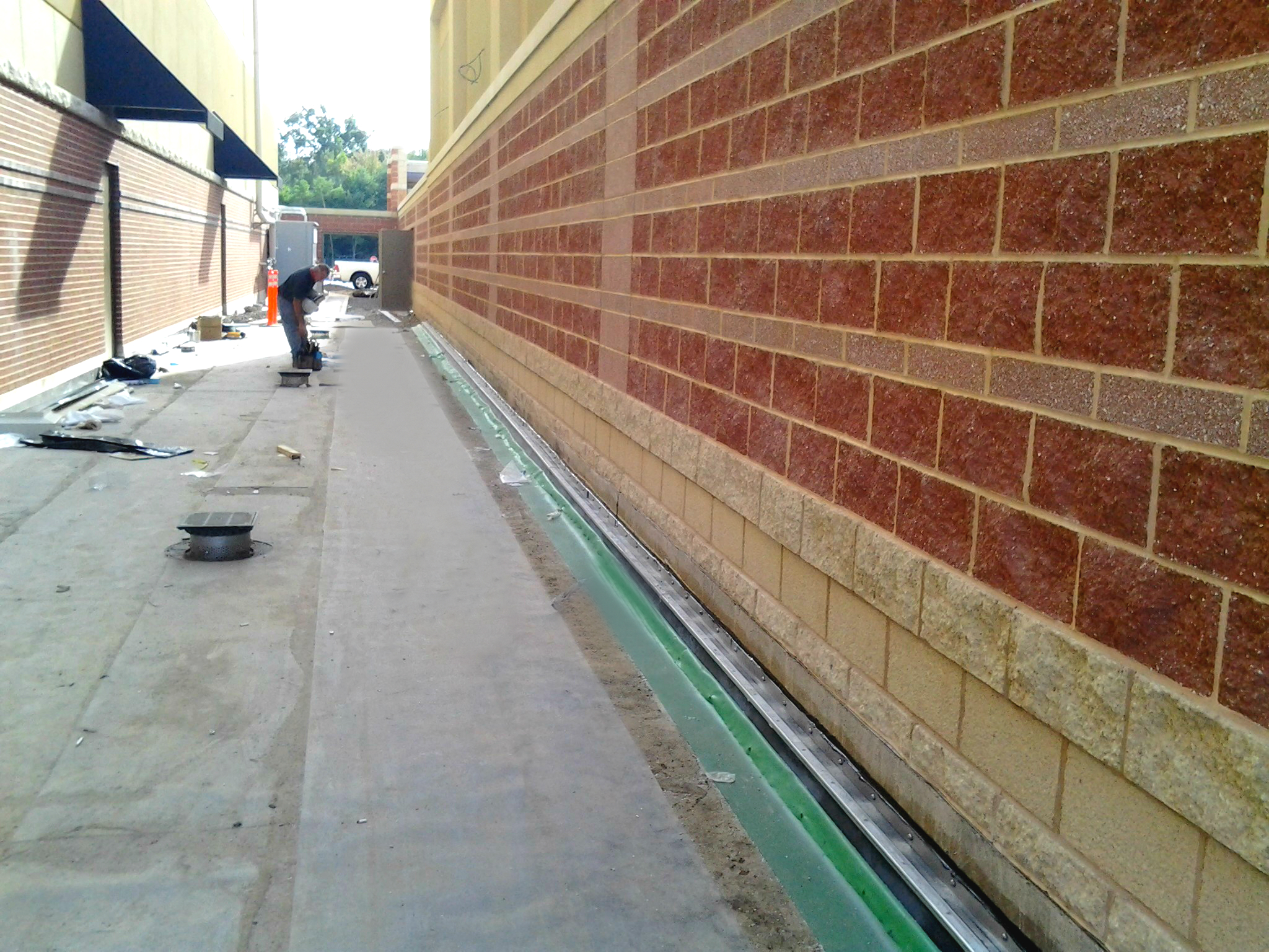 Floor to Wall Flashing and Expansion Joint