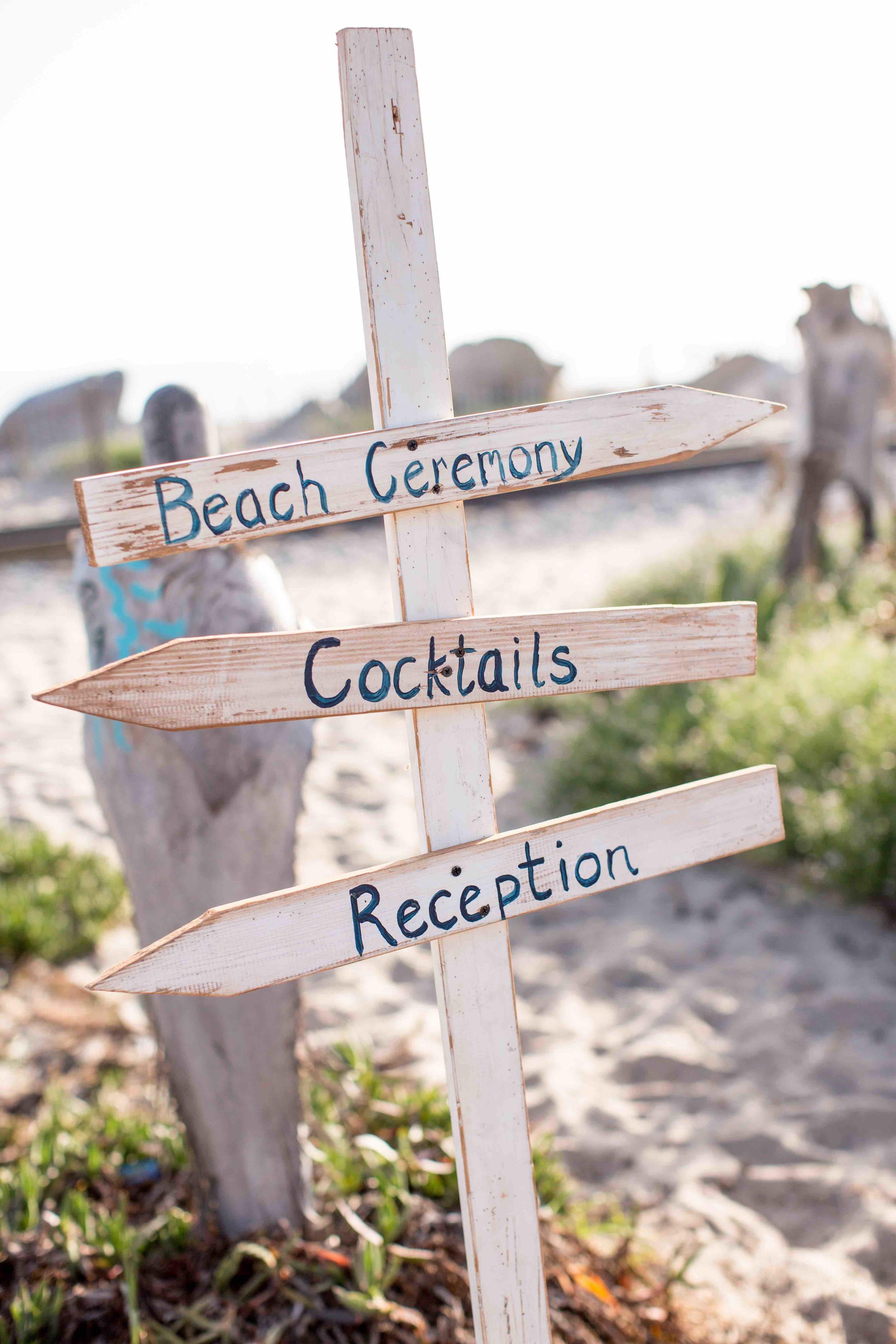 Beach Directional Sign