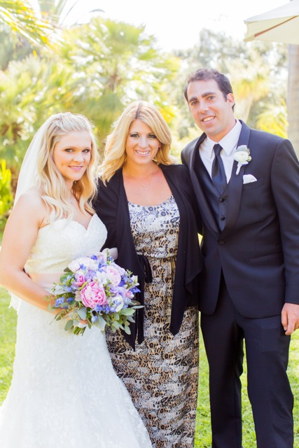 Our Zoo Wedding Coordinator,  Angie ,with one of her Beautiful Couples at the Santa Barbara Zoo! - Photography by Sun & Sparrow