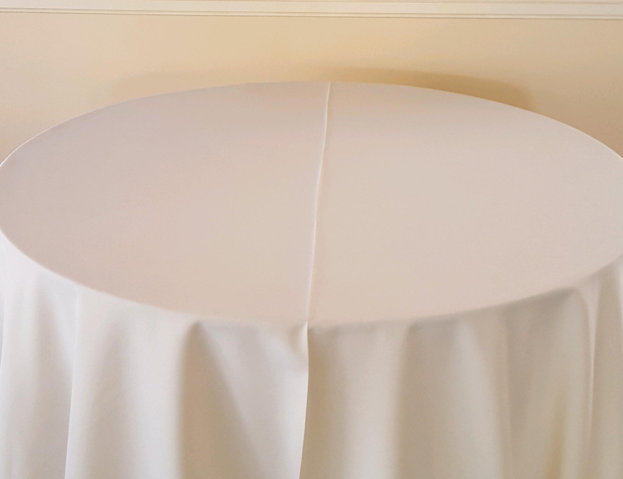 """Ivory - King drape, 130"""" drape, 120"""" drape, 108"""" drape, 90"""" drape, 6' banquet, 8' banquet & napkins"""