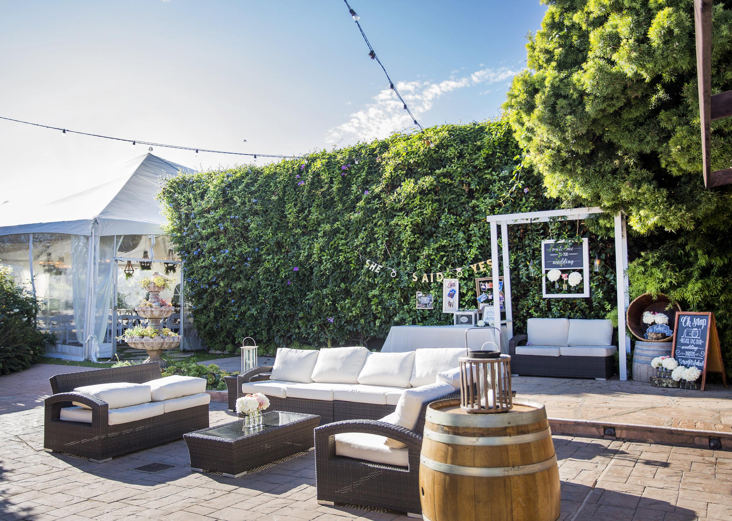 Santa Barbara Rincon beach club outdoor patio