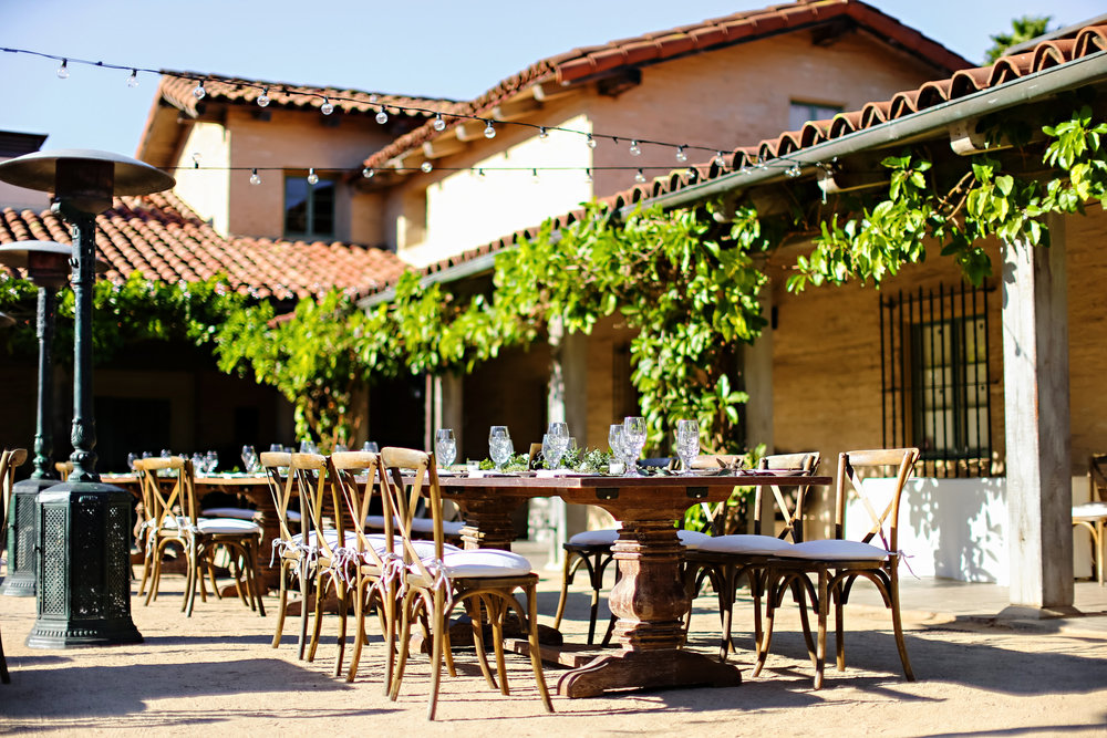 Specialty Farm Tables and Vineyard Chairs