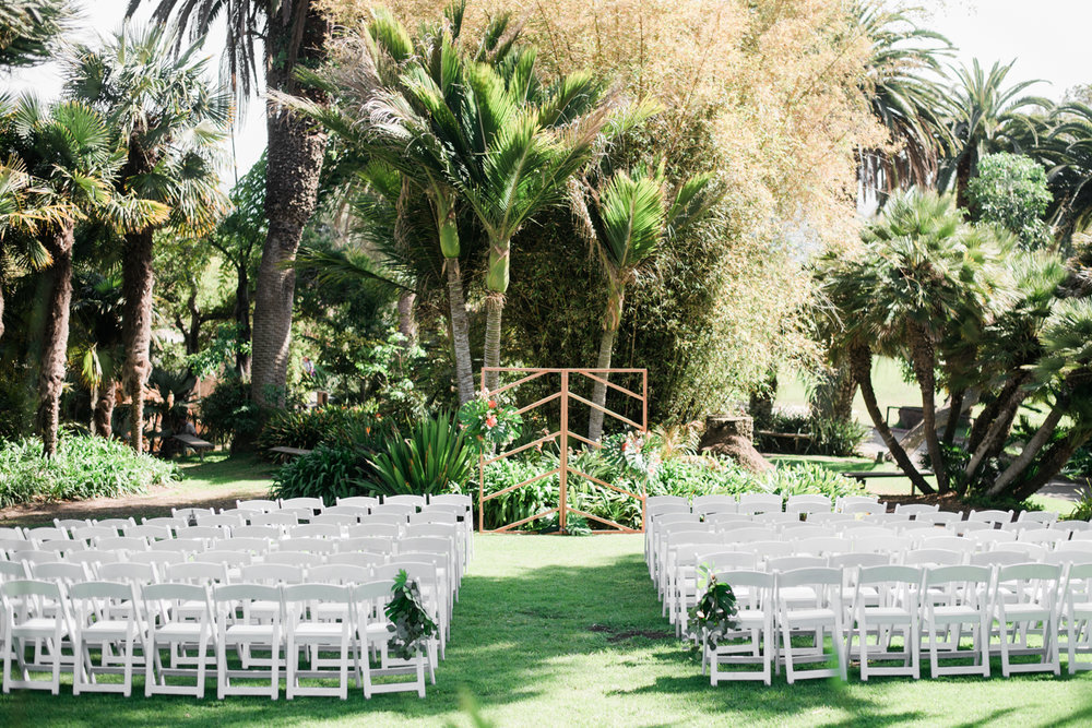 Zoo Geometric Ceremony Backdrop