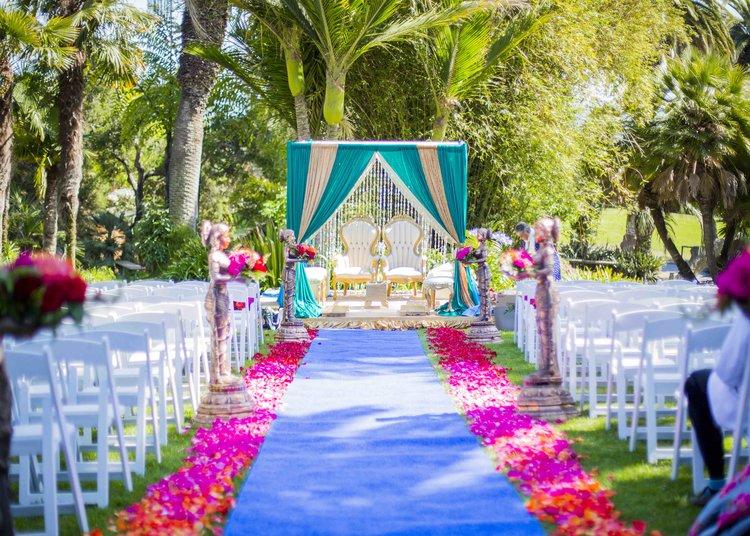 Hindu Ceremony Mandap Canopy - Santa Barbara Zoo