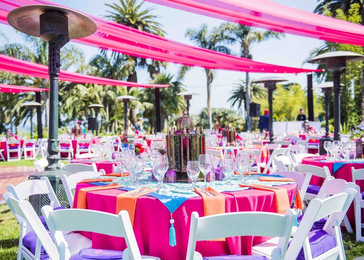 Colorful Hindu Wedding with Custom Draping