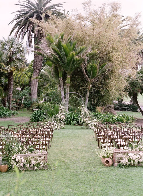 Zoo Garden Ceremony Setup