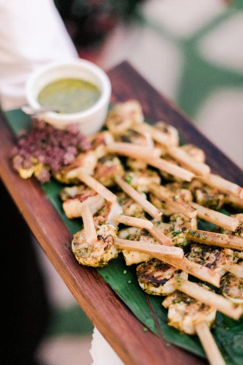 Cilantro Pesto Seared Shrimp