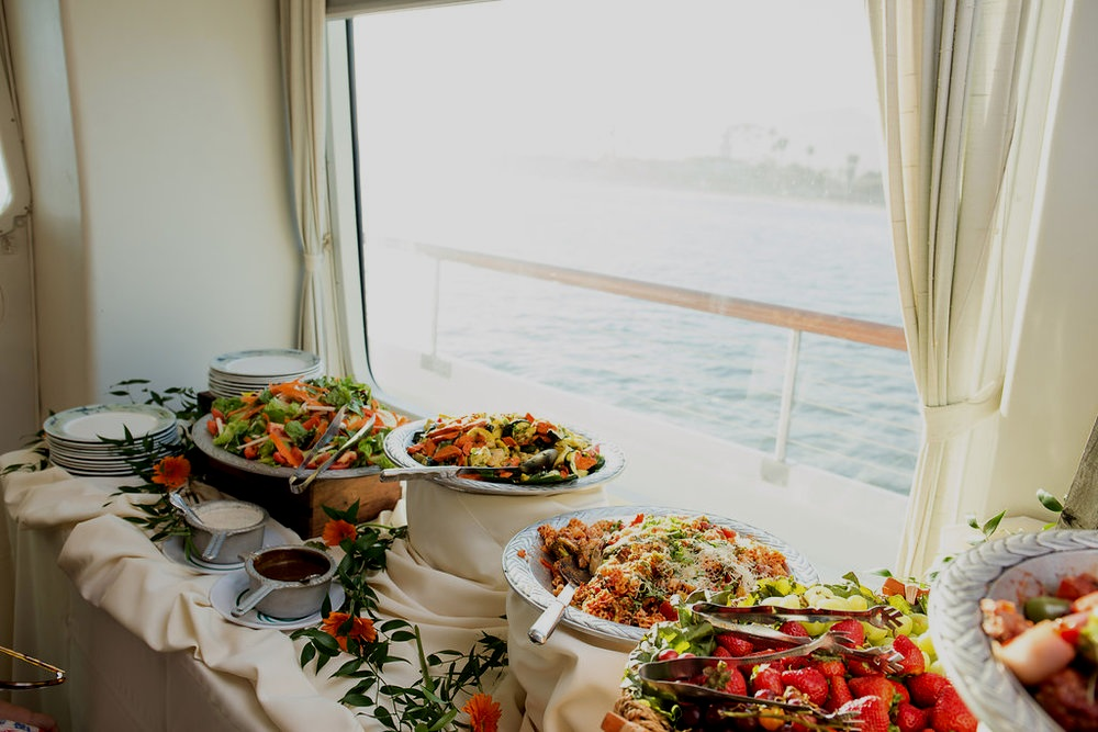 We provide Buffets, Action Stations, Passed Hors d'oeuvres & More aboard the CC!  -