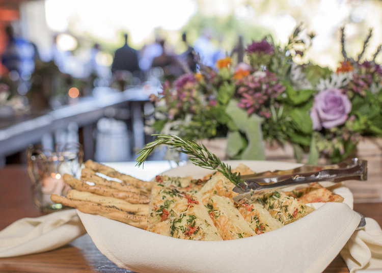 Handmade Herb and Tomato Focaccia & Sesame Seed Bread Sticks
