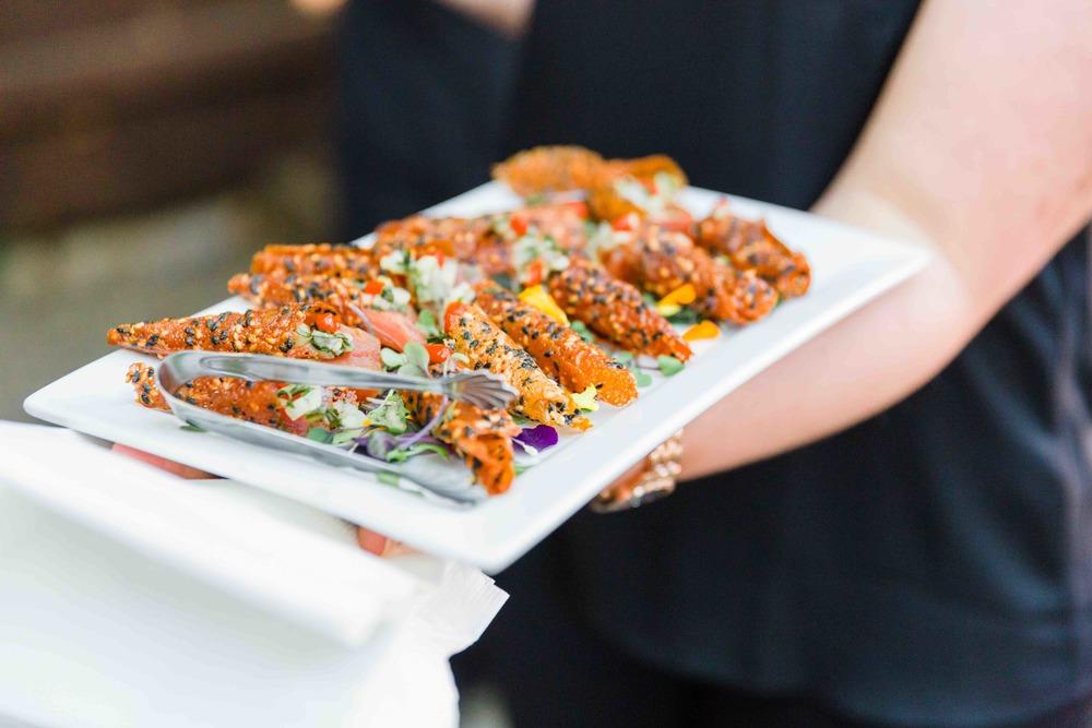 Ahi Poke Served in Handmade Sesame Seed Miso Cone