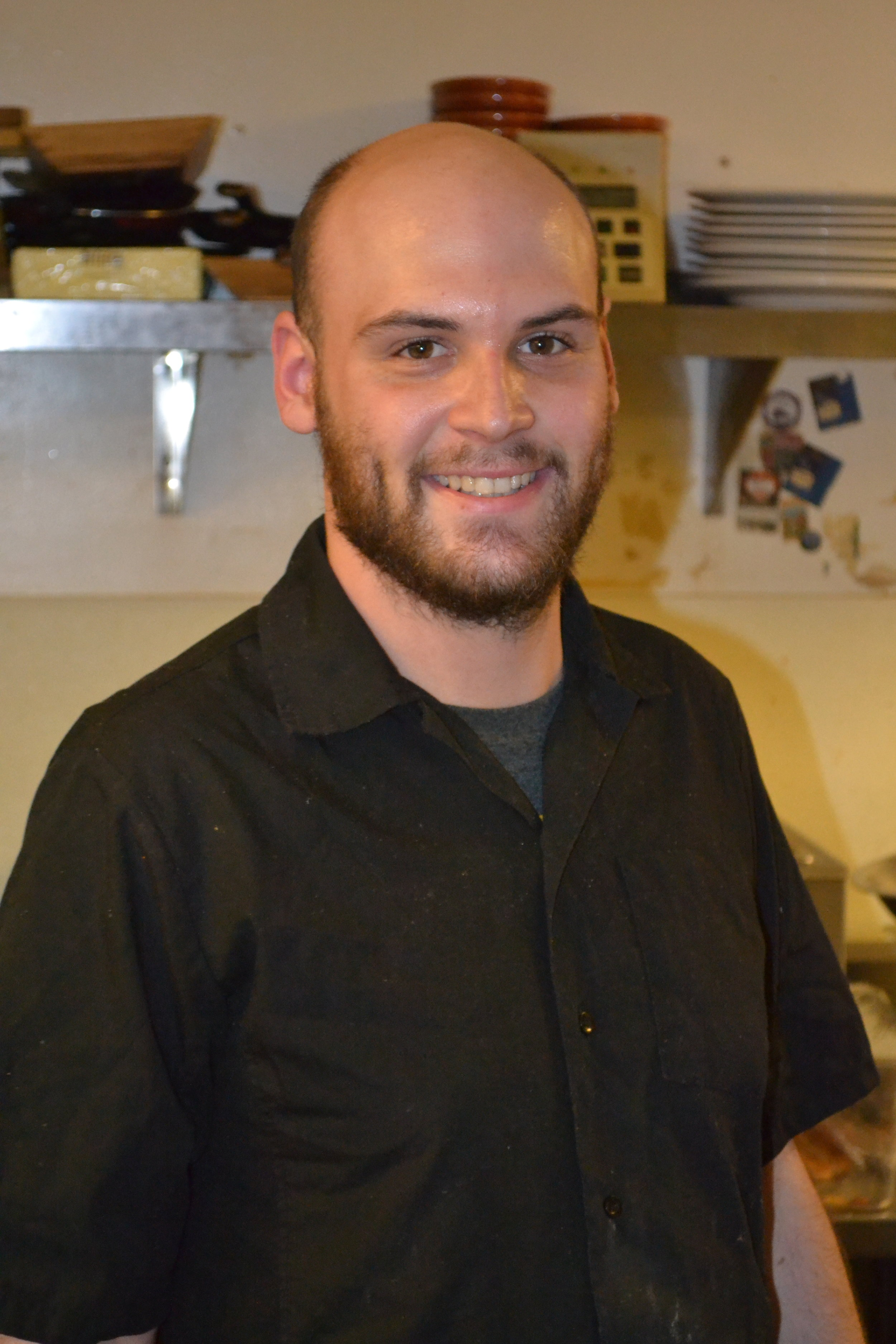 CHEF NICK  Nick's hobby is skateboarding in his free time. When it comes to food, he loves everything.