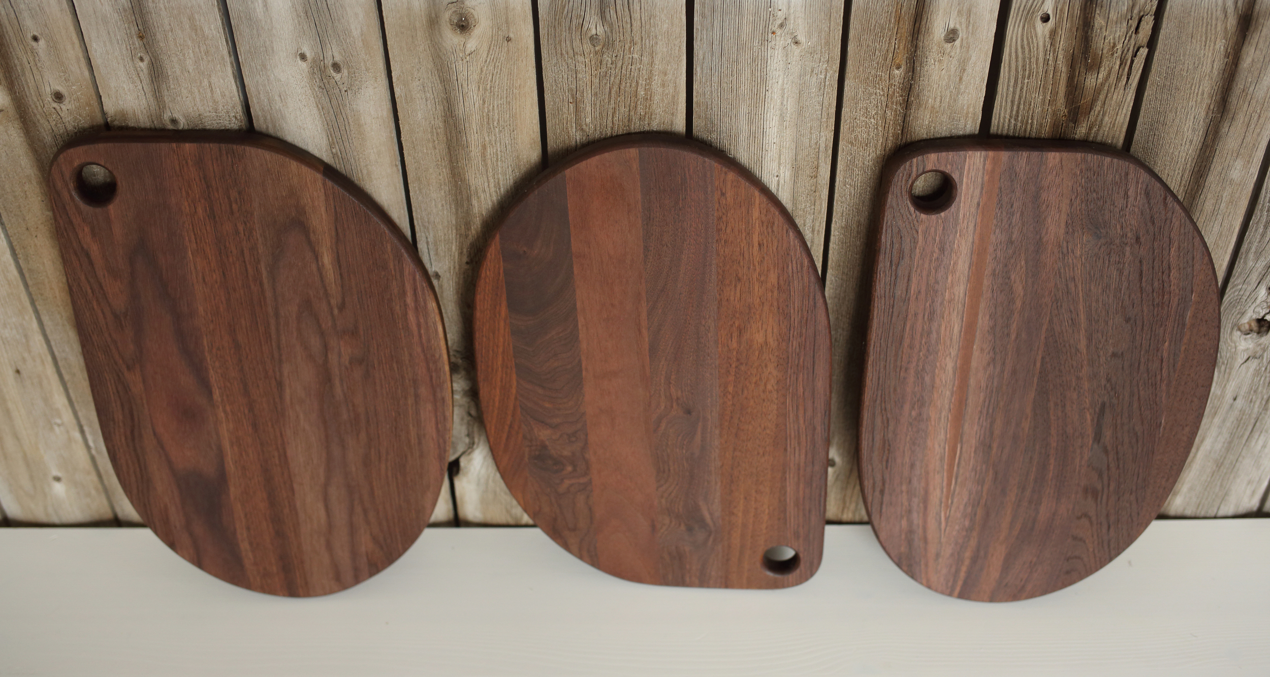 Locally Sourced, Non-Harvested Walnut Serving Boards