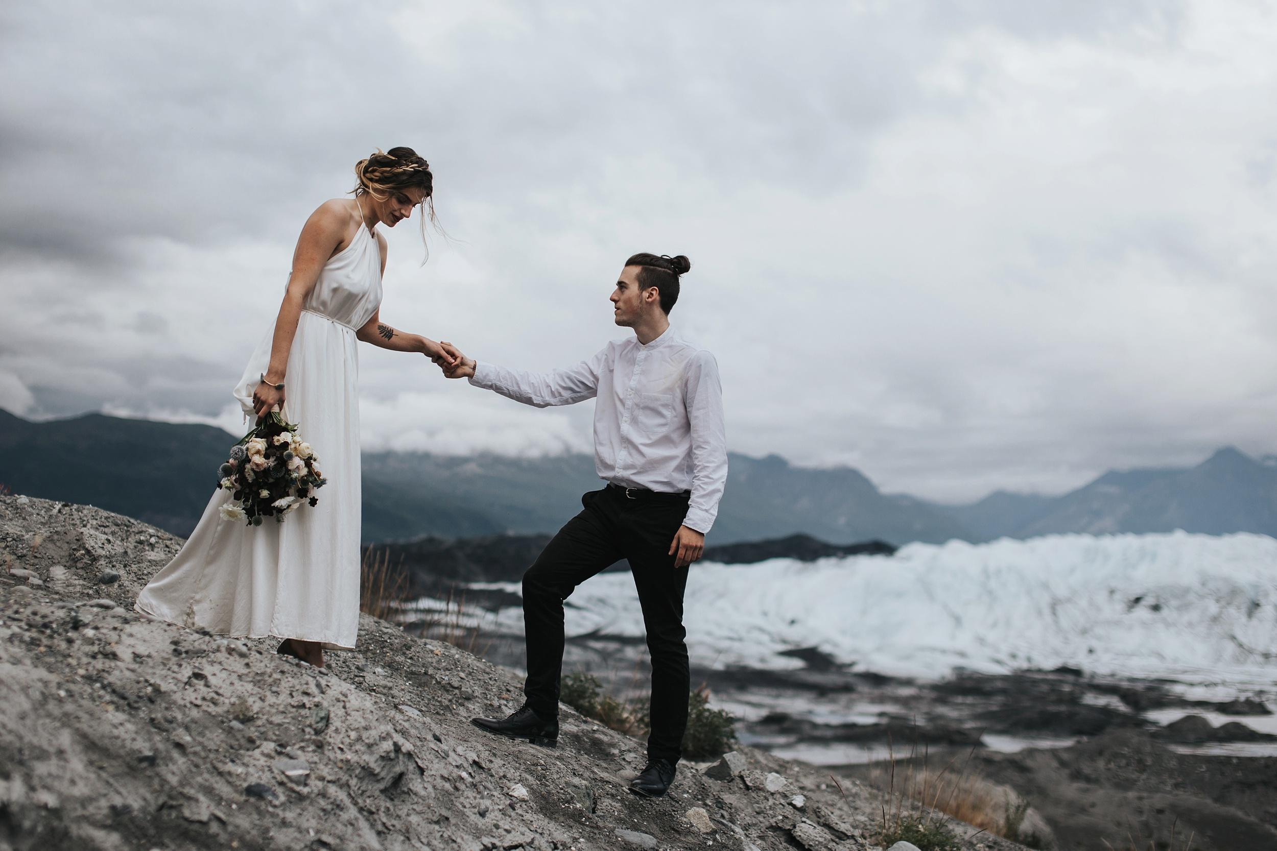glacier wedding inspiration