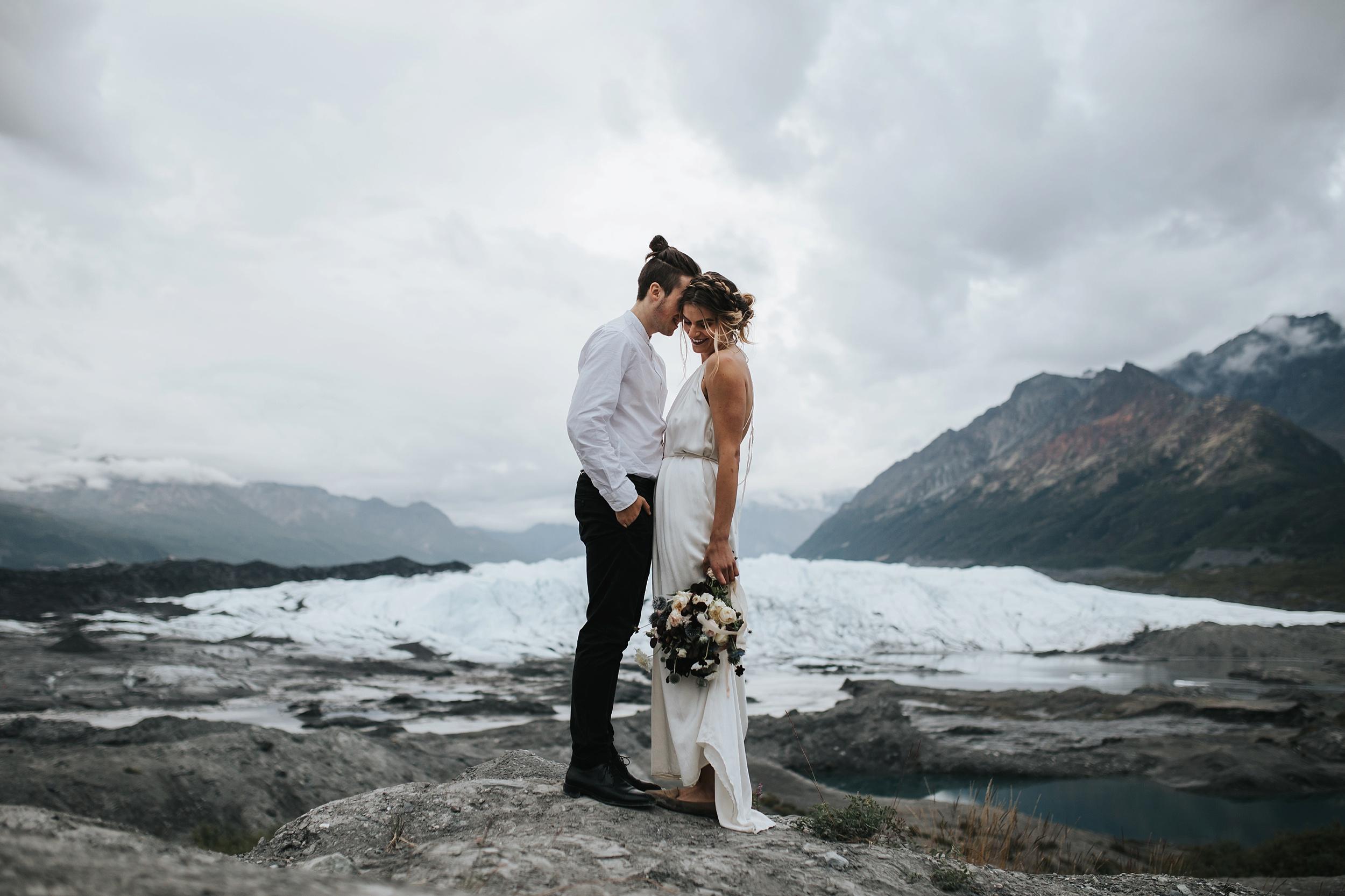 elopement at Matanuska glacier in Alaska