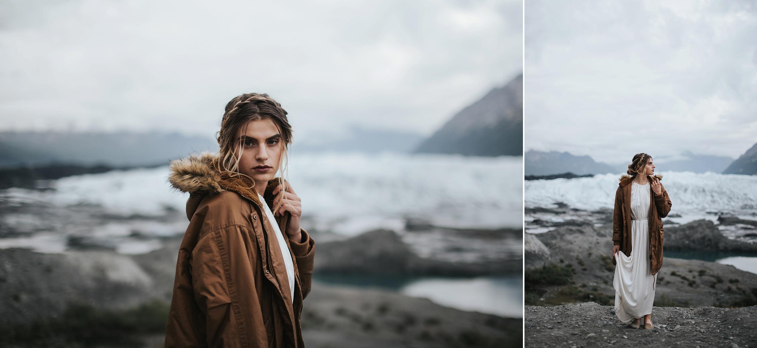 elope on a glacier in Alaska