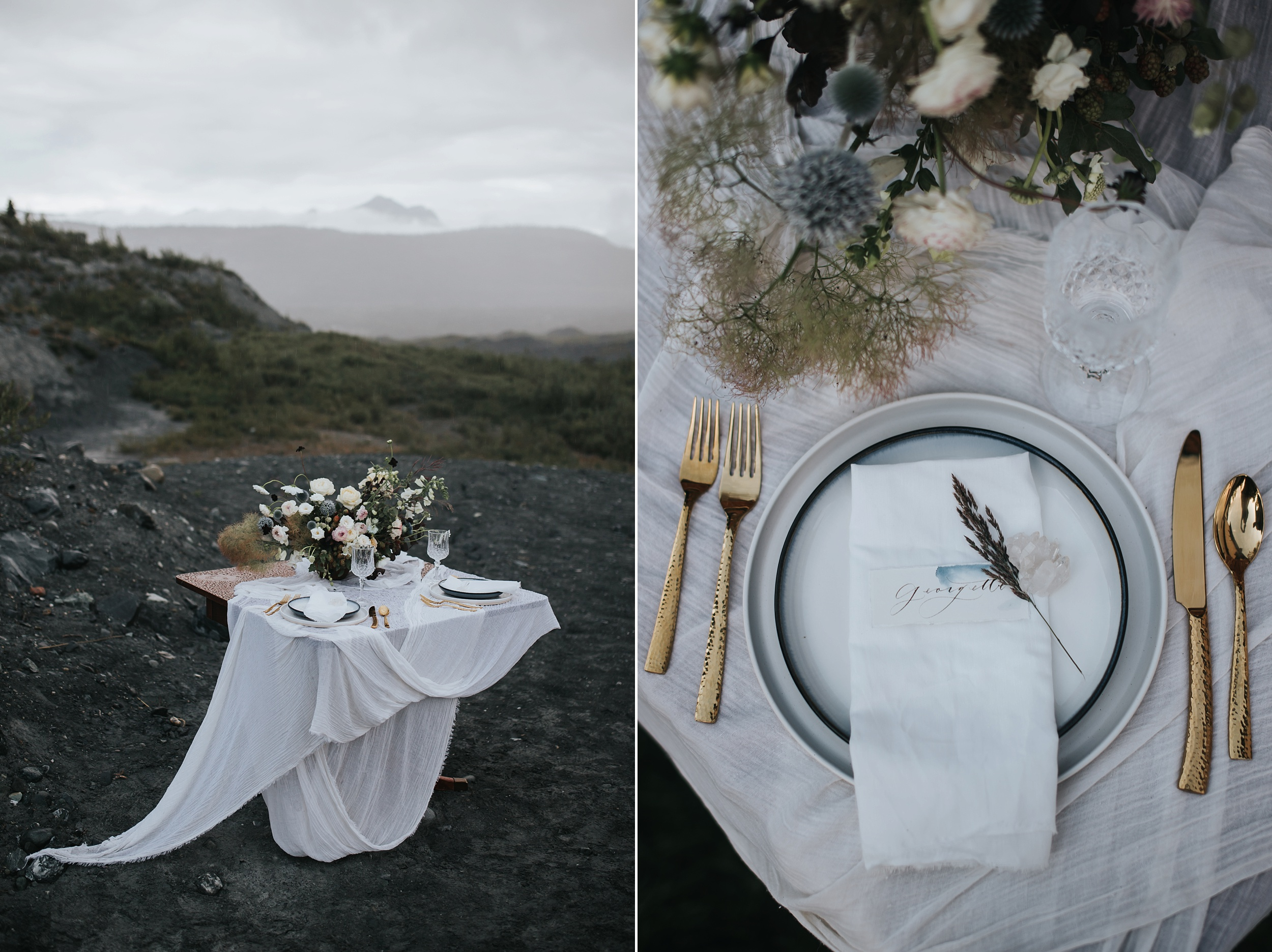 glacier wedding table
