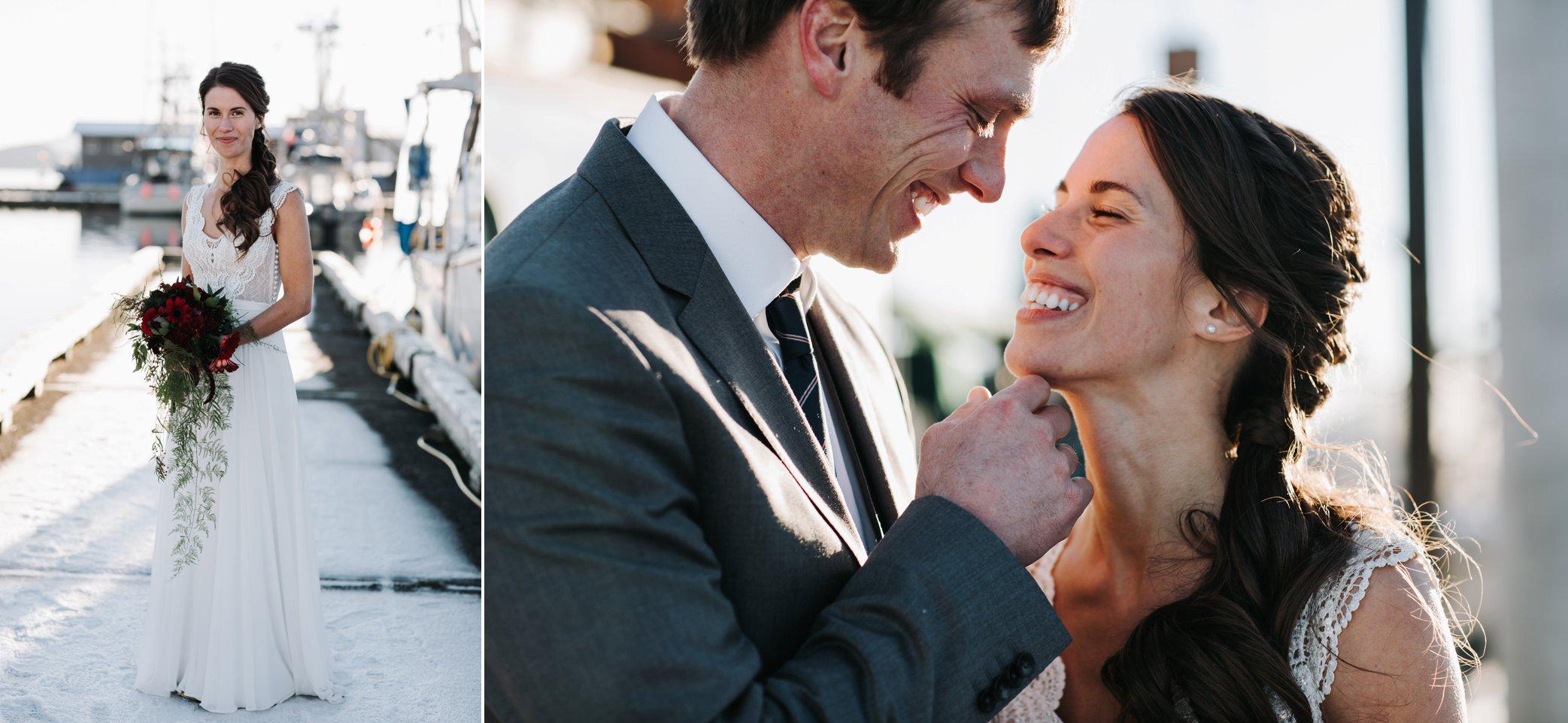 wedding photos at harbor