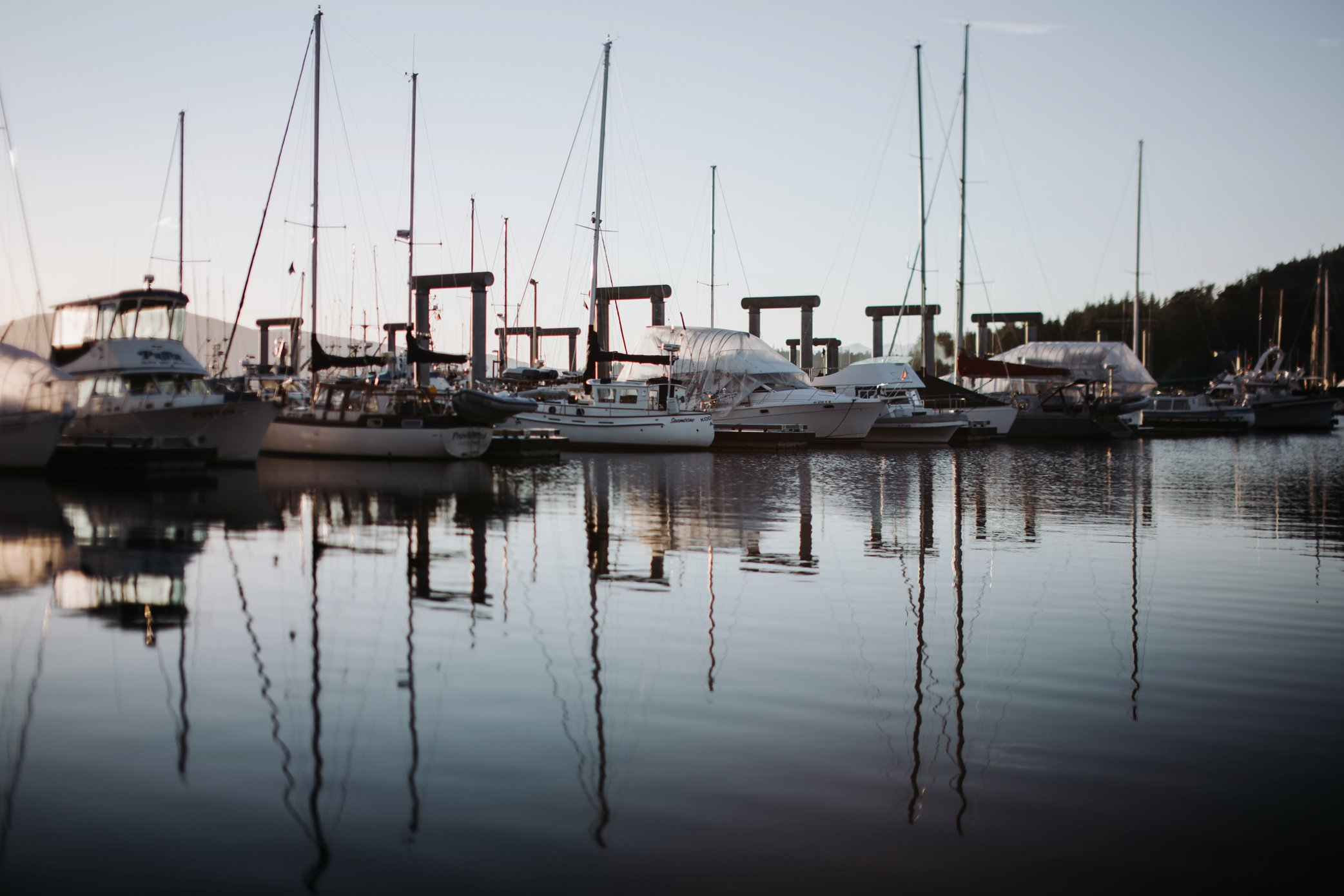 boats in winter at Auke Bay