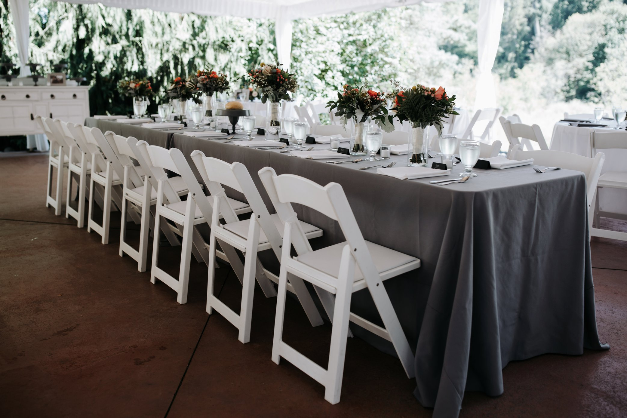 head table at wedding