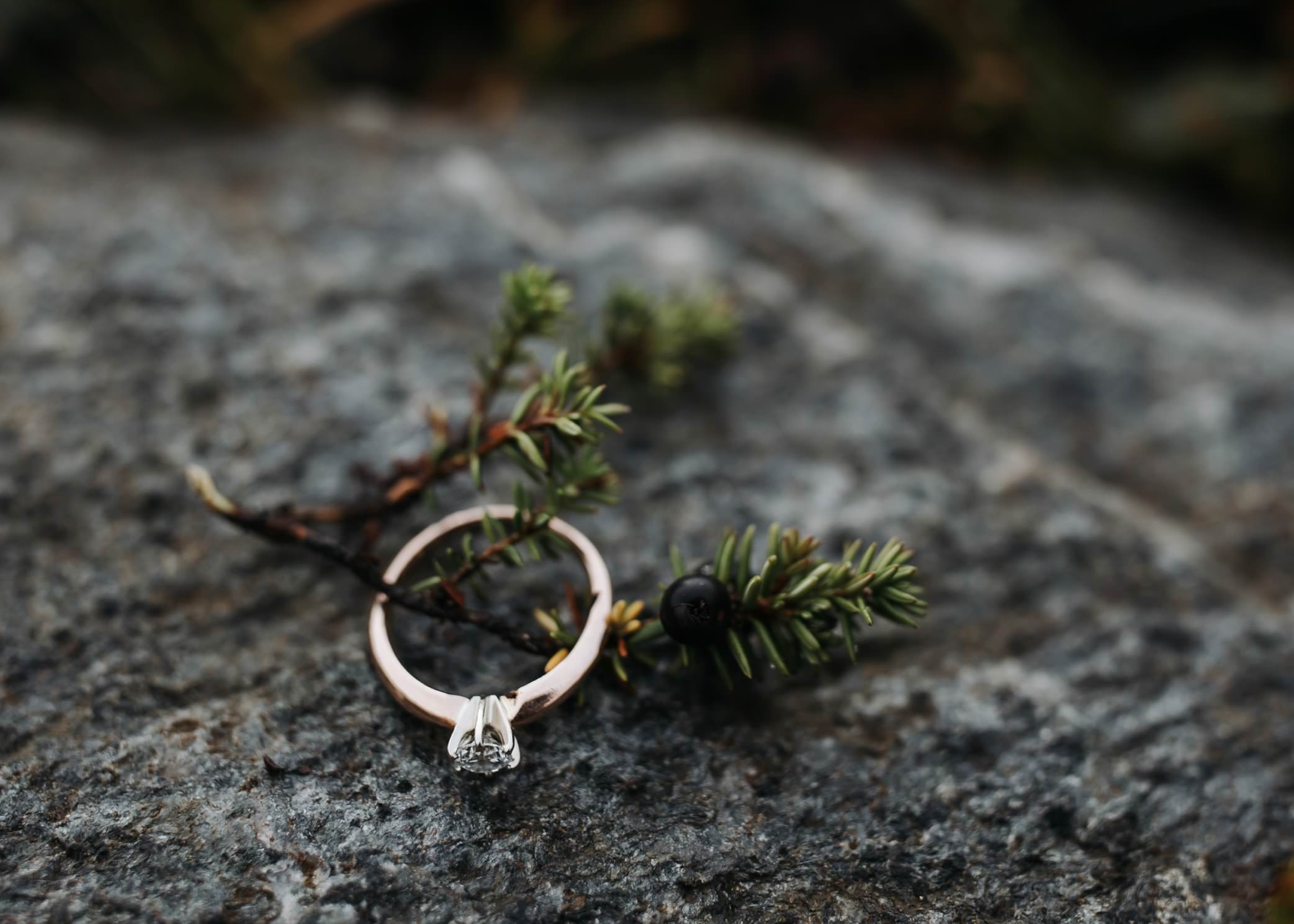 engagement ring with berries