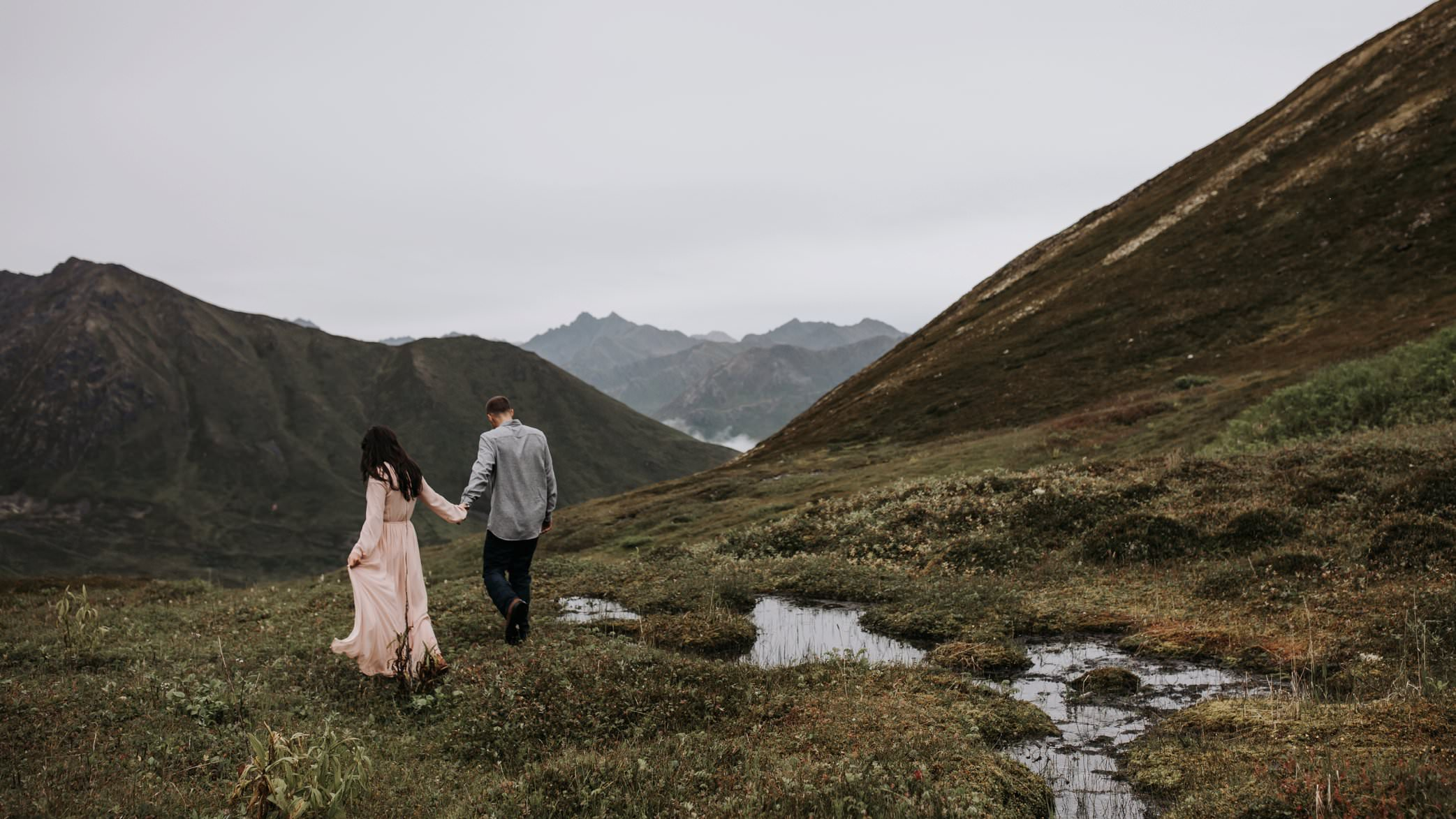 engagement in mountains