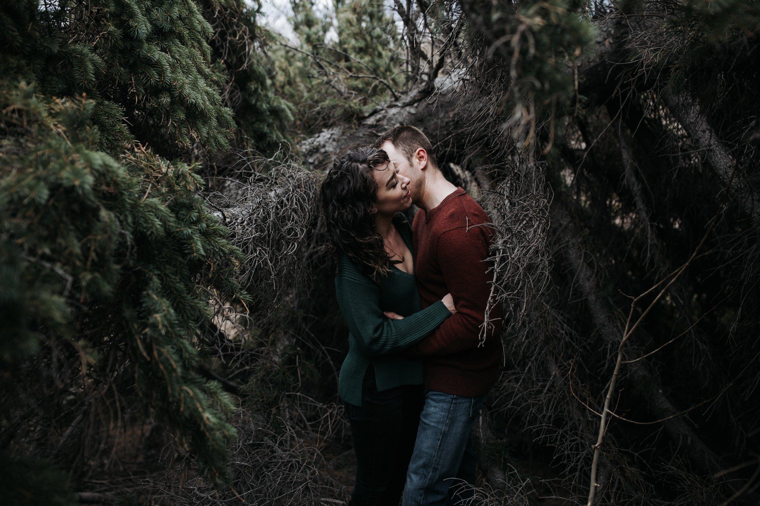 forest engagement session in alaska