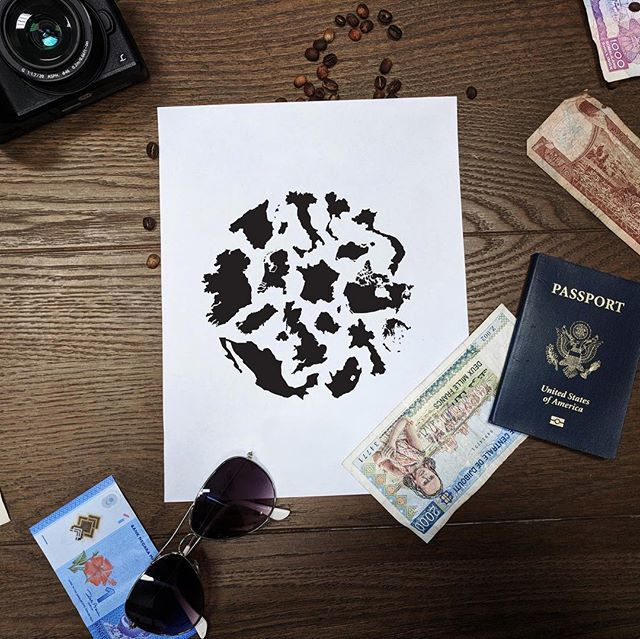 Your own custom thumbprint of the world you've traveled 🌎 // shop the #janewayfarer Map Mark [ link in profile ]