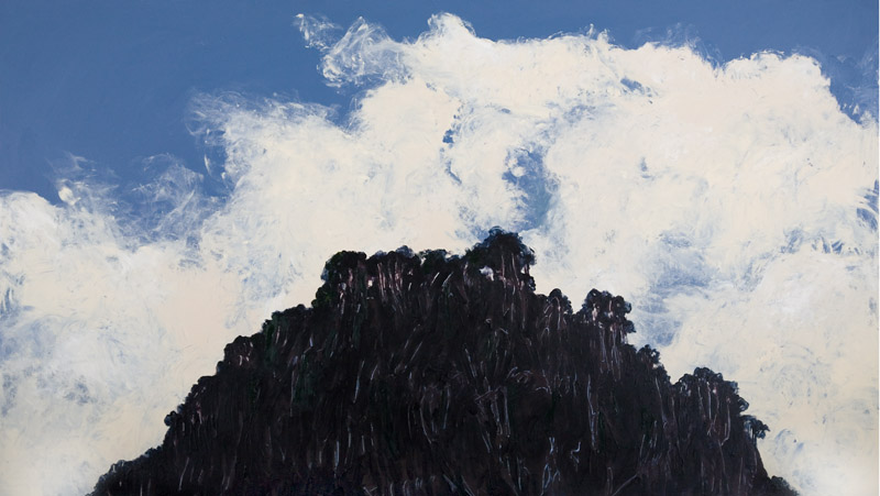 Mt Olympus,  2007, acrylic on canvas, 240cm(w)135cm(h)