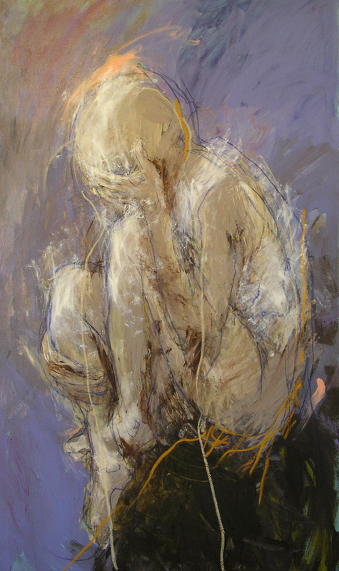 Persephone,  2008, acrylic and oil stick on linen, 90cm(w)x150cm(h)