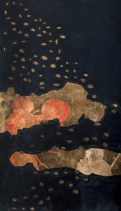 Eros and Psyche 1 , 2010, acrylic on linen, 1050x50cm
