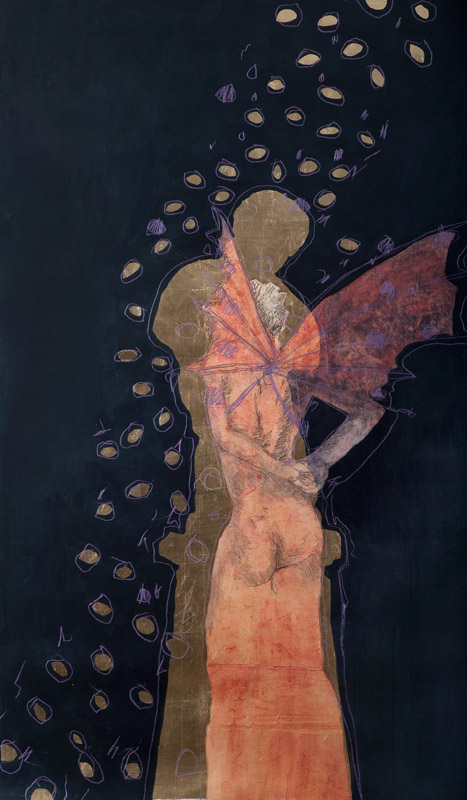 Eros and Psyche 11,  2010, acrylic on stretched linen on board, 150x50cm