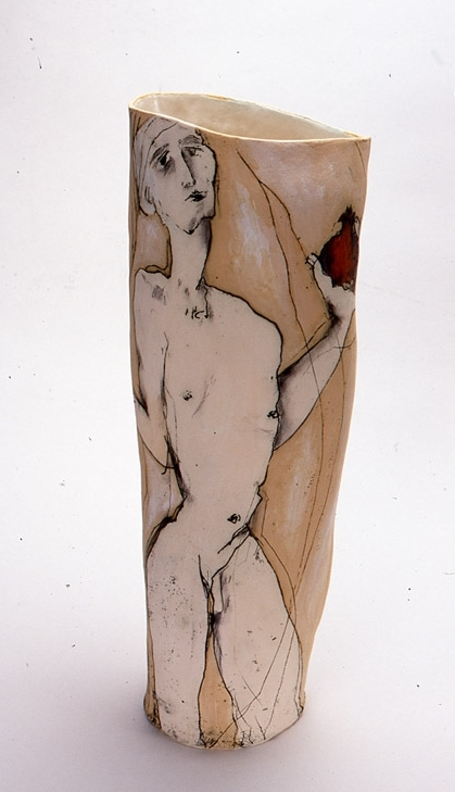 The Pomegranate,  2002, mid-fired ceramic, with underglazes, 70cm