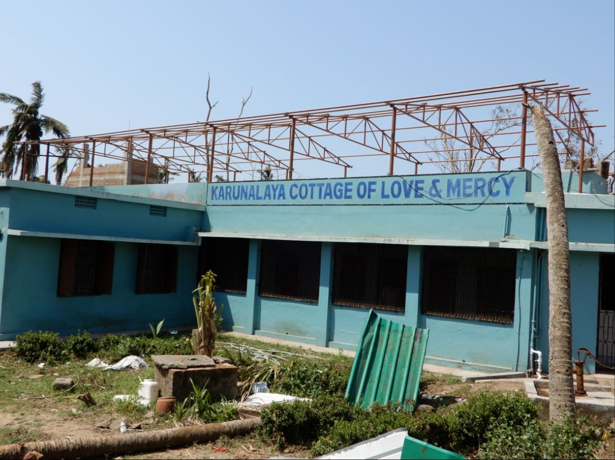 Extensive damage to the lepers' care center