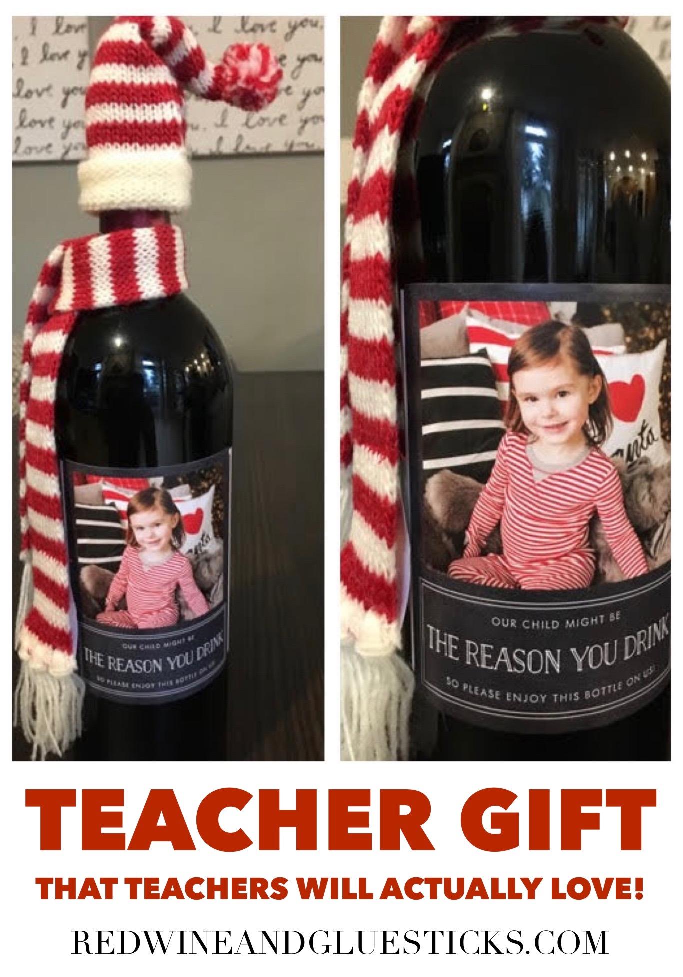 Wine Bottle Teacher Gift