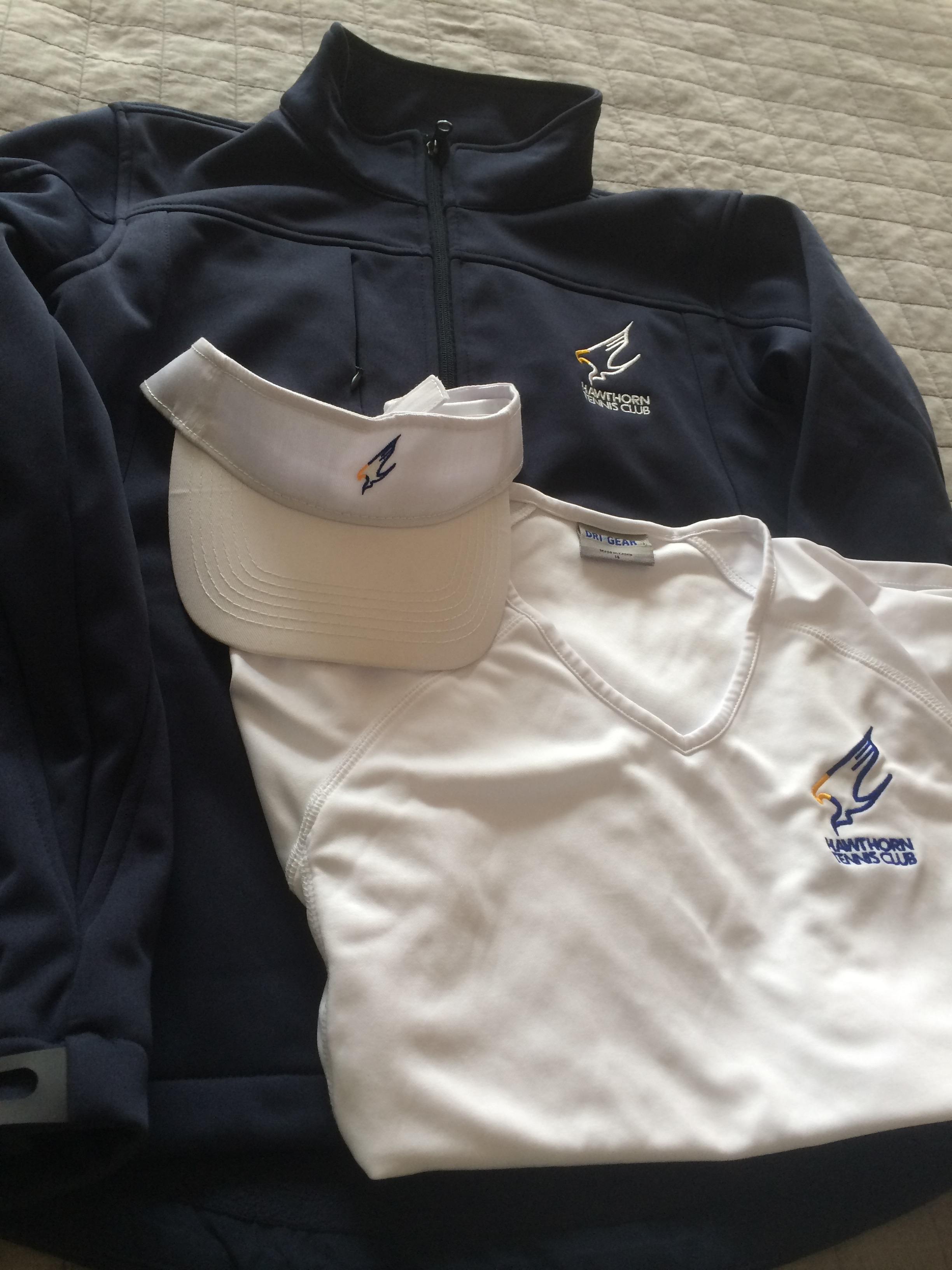 Jacket, Visor, and Women's V-neck shirt