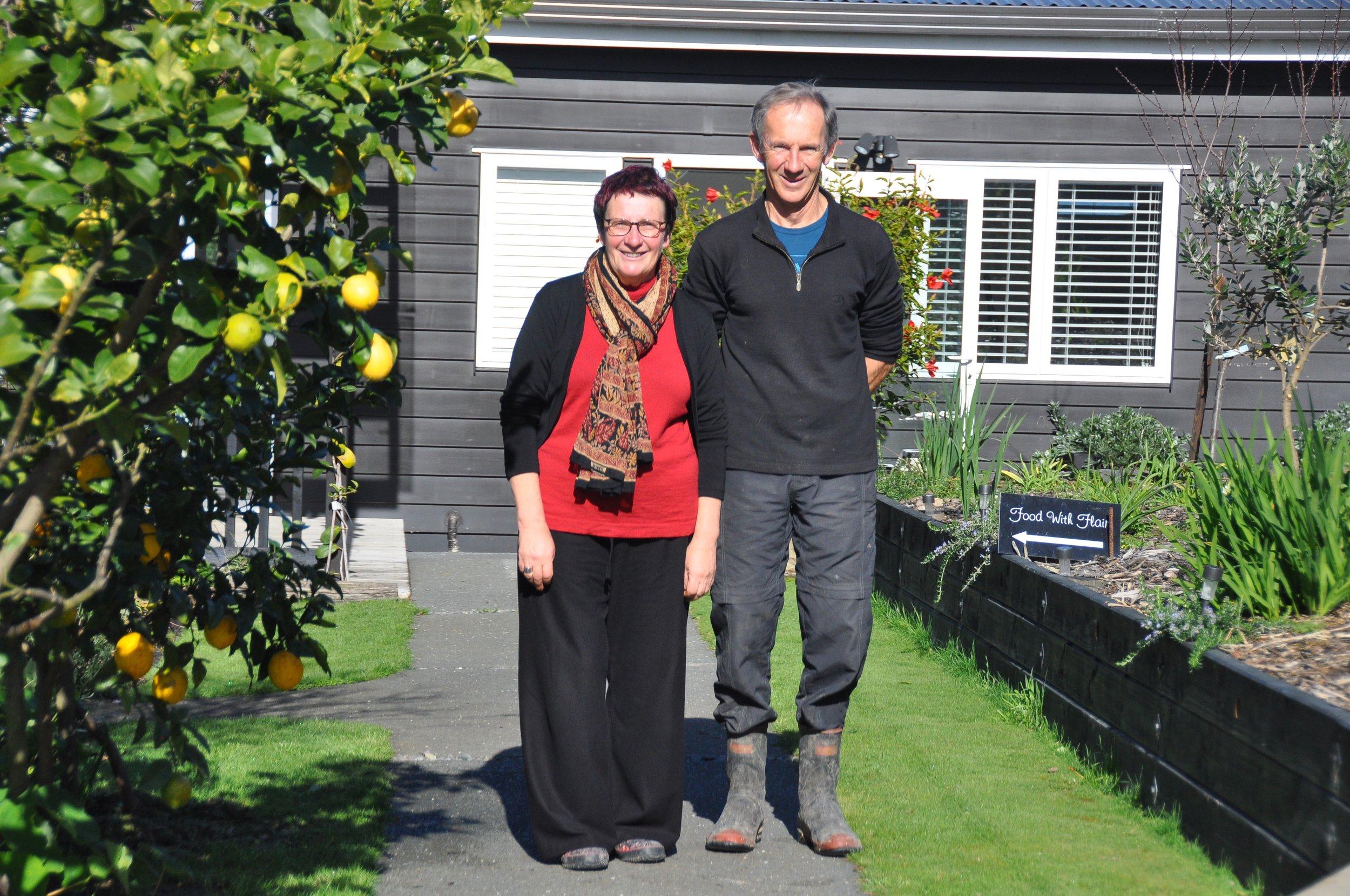 Lyndell Shannon with Garden Owner Simon Wright in Garden 2